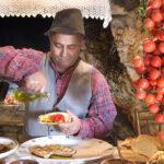 puglia wine, bread with oil and fresh tomato 1